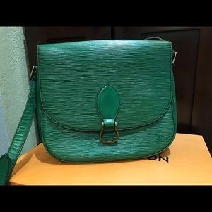 Louis Vuitton Epi Green Cross Body Bag
